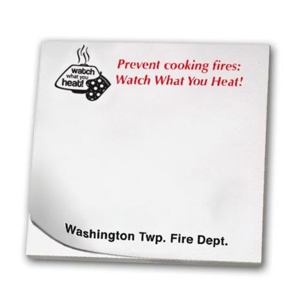 Prevent Cooking Fires, 25 Sheet Sticky Pad