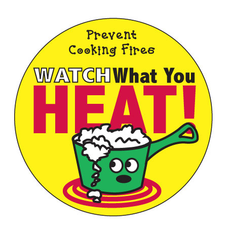 Watch What You Heat Sticker Roll, Stock - Closeout, On Sale!