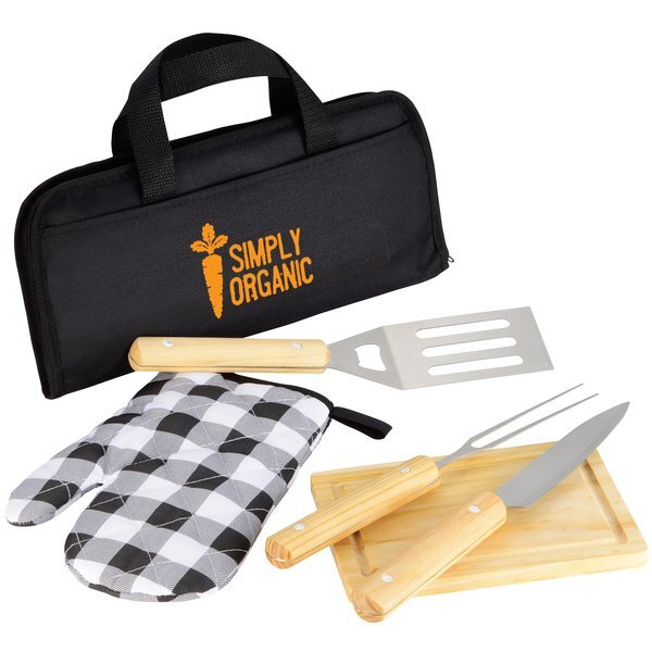 Five-Piece BBQ Set w/ Carrying Case
