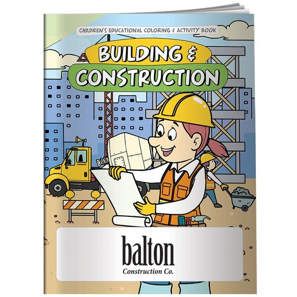 Building & Construction Coloring & Activity Book