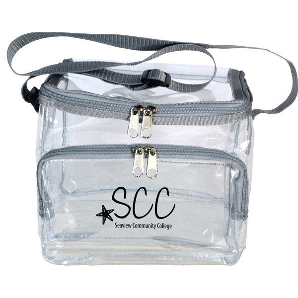Clear Vinyl 12-Can Lunch Bag
