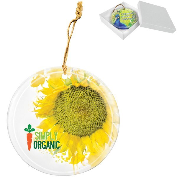 Round Glass Full Color Ornament & Suncatcher