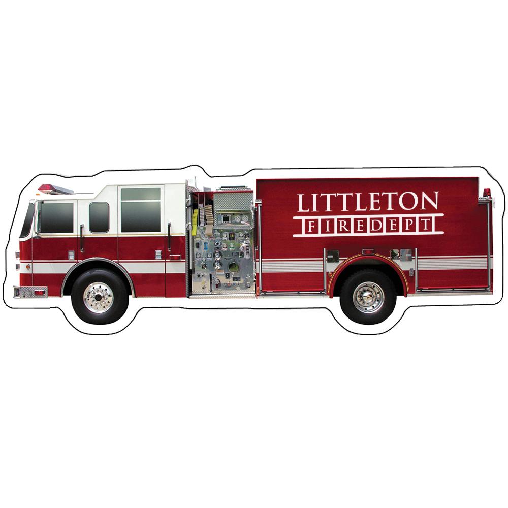 Fire Truck Full Color Magnet