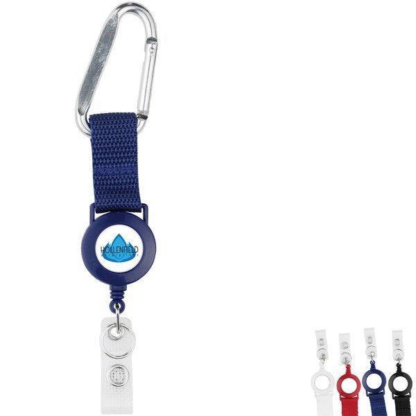Carabiner Strap 2 Reel Retractable Badge Holder