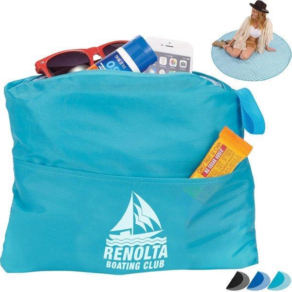 """Beach Blanket w/ Hidden Storage Compartment, 55"""""""