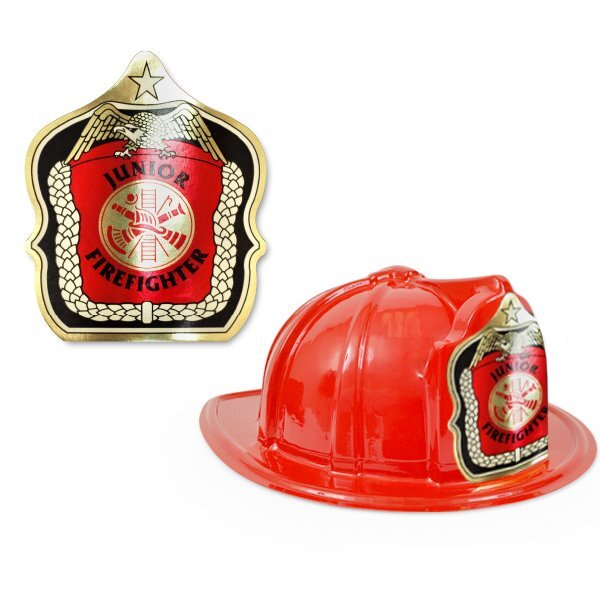 Junior Firefighter Fire Station Favorite Hat, Red Stock