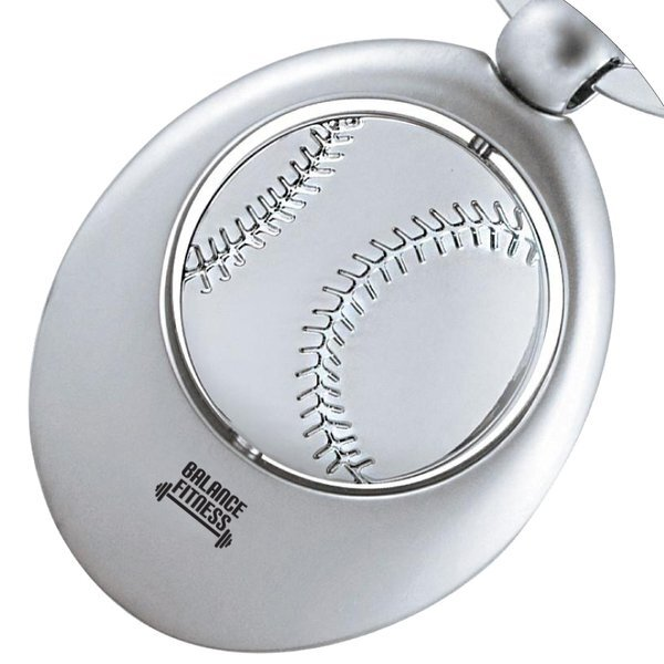 Baseball Silver Swivel Sports Key Chain
