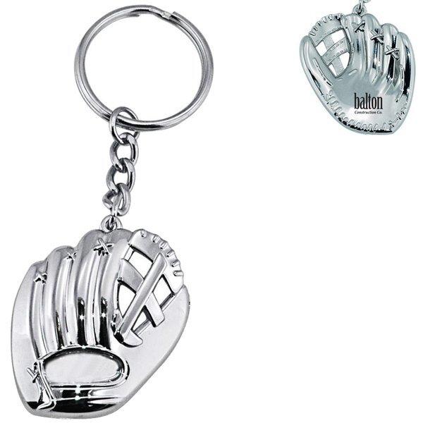 Baseball Glove Silver Key Chain