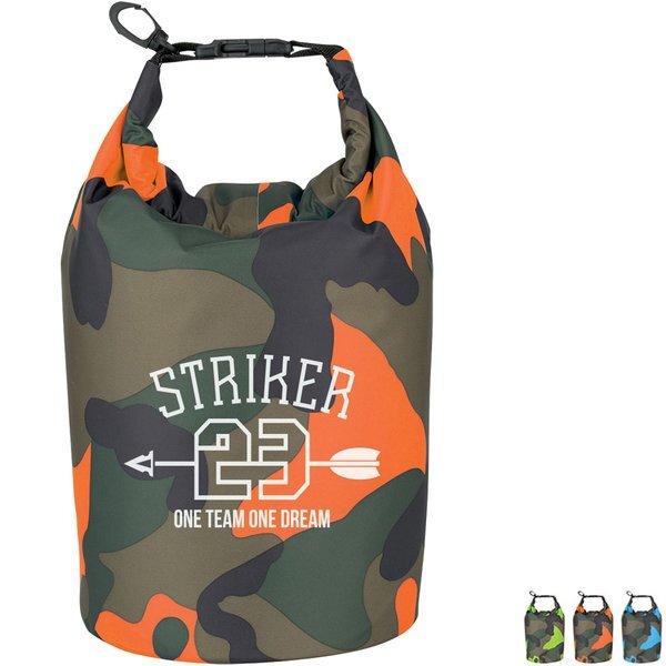 Camo Waterproof Dry Bag, 5 Liters