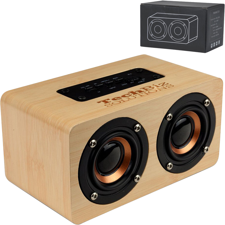 Double Dip™ Bamboo Bluetooth Speaker