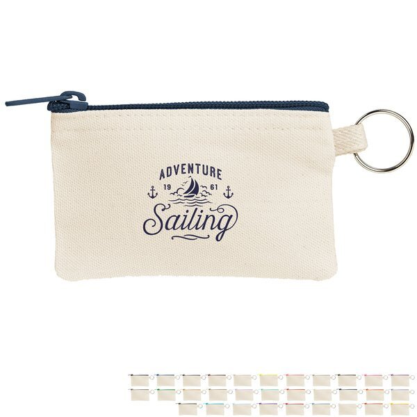 Penny Cotton Canvas Key Ring Wallet