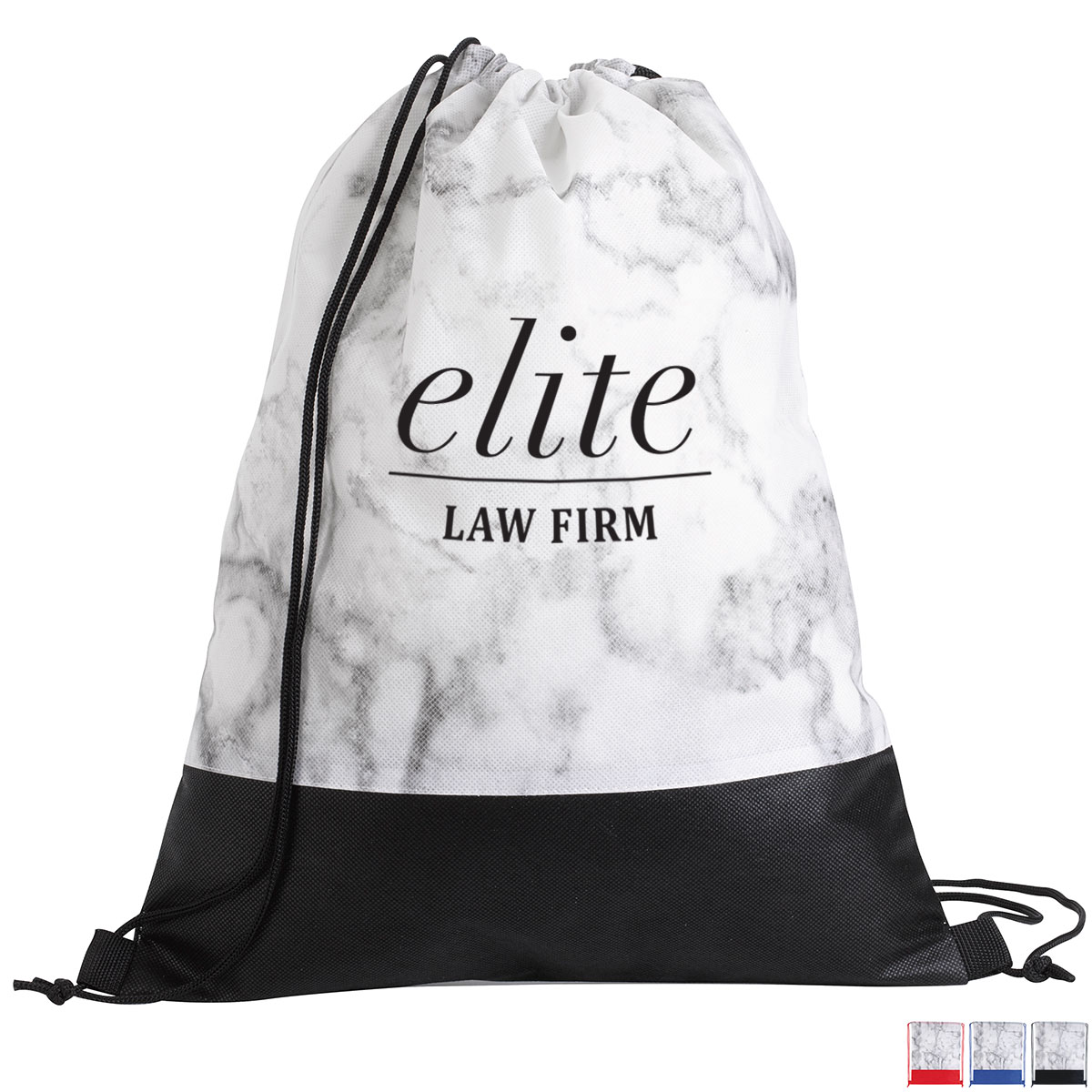 Coliseum Marble Non-Woven Drawstring Backpack