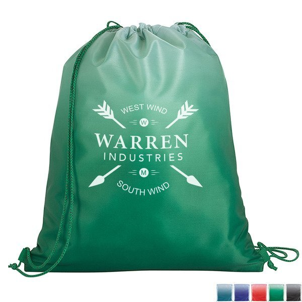 Contemporary Gradient 210D Drawstring Backpack