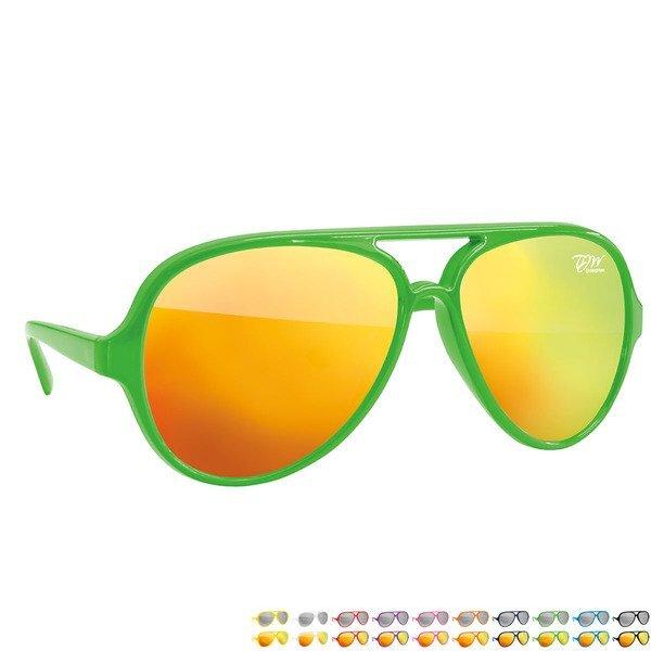 Maverick Mirrored Plastic Aviator Sunglasses