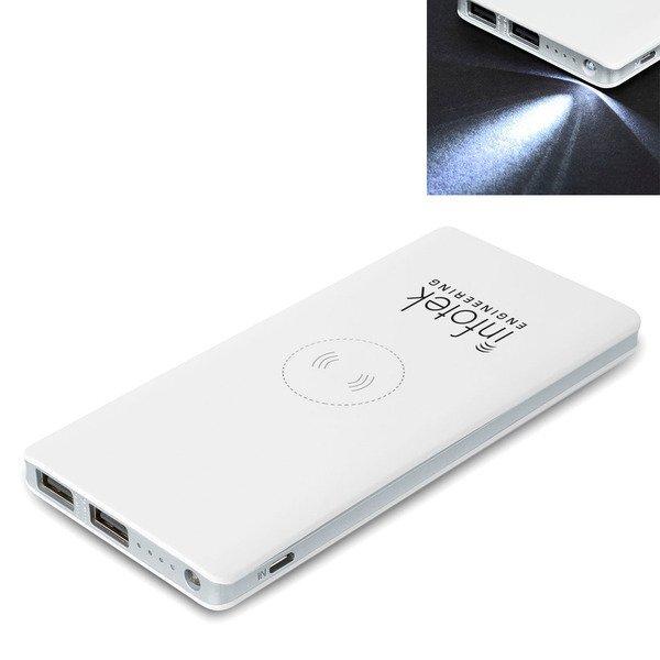 Wireless 5W Qi Charger w/ Power Bank, 10000mAh