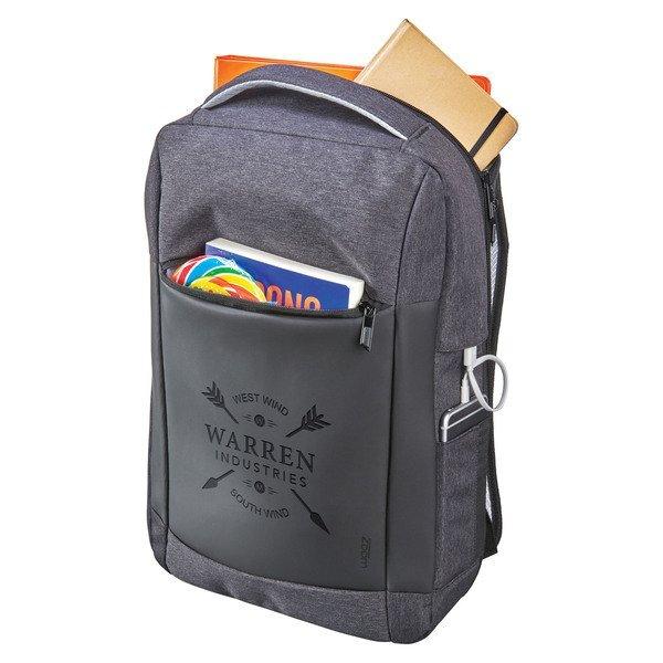 "Zoom® Covert Security Slim Polycanvas TSA 15"" Computer Backpack"