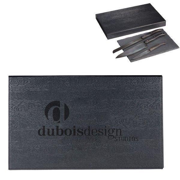 Laguiole® Black Kitchen Knife & Cutting Board Set