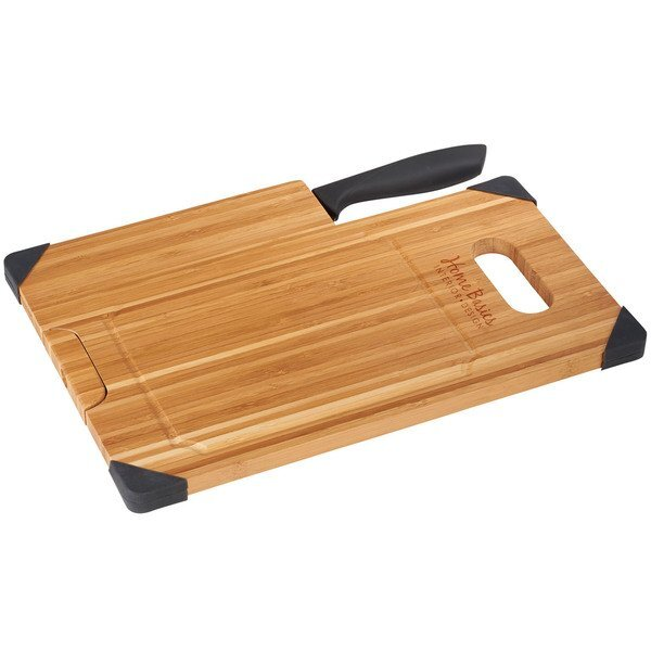 Bamboo Cutting Board w/ Knife