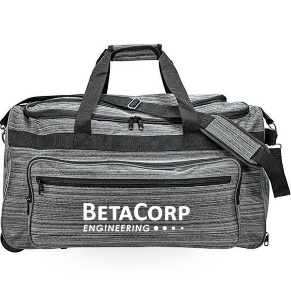 Heathered PolyCanvas Rolling Duffel - CLOSEOUT!