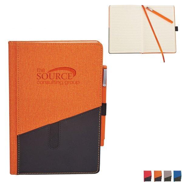 Siena Heathered Bound JournalBook™ & Pen Gift Set