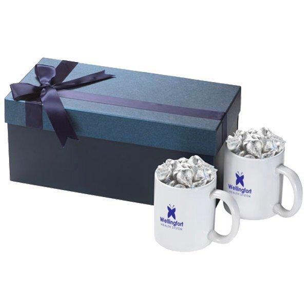 Classic Two-Piece Ceramic Mug & Hershey Kisses Gift Set