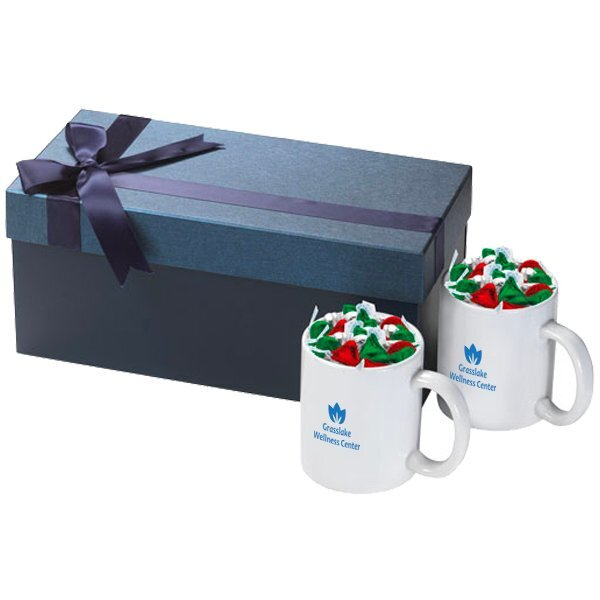 Classic Two-Piece Ceramic Mug & Holiday Hershey Kisses Gift Set