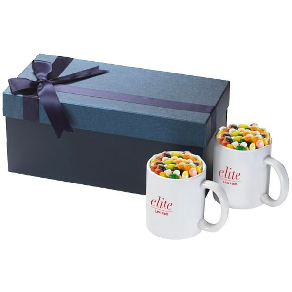 Classic Two-Piece Ceramic Mug & Jelly Beans Gift Set