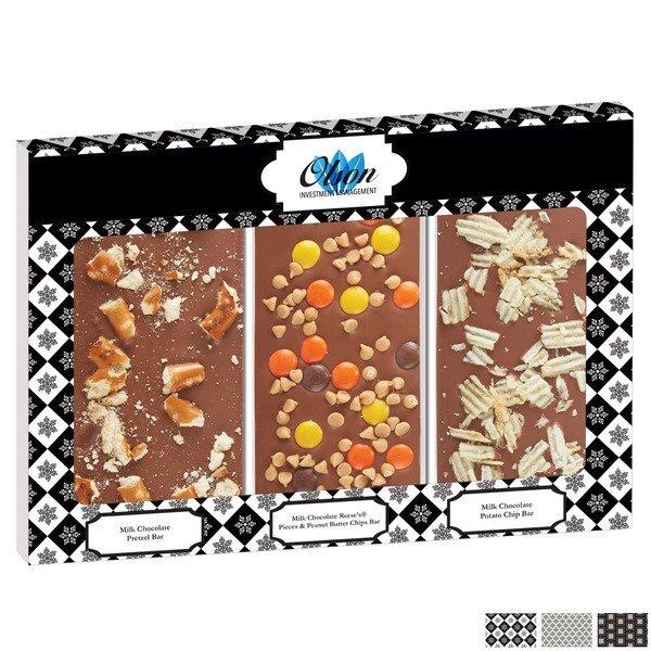 Belgian Chocolate Taster's Trio Triple Bars, Full Color Imprint