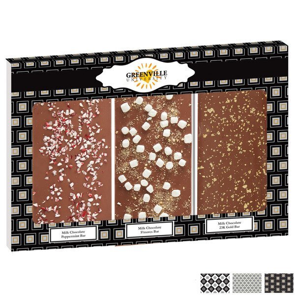 Belgian Chocolate Holiday Sparkle Triple Bars, Full Color Imprint