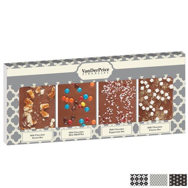 Belgian Chocolate Sweets n' Treats Bar Quartet, Full Color Imprint
