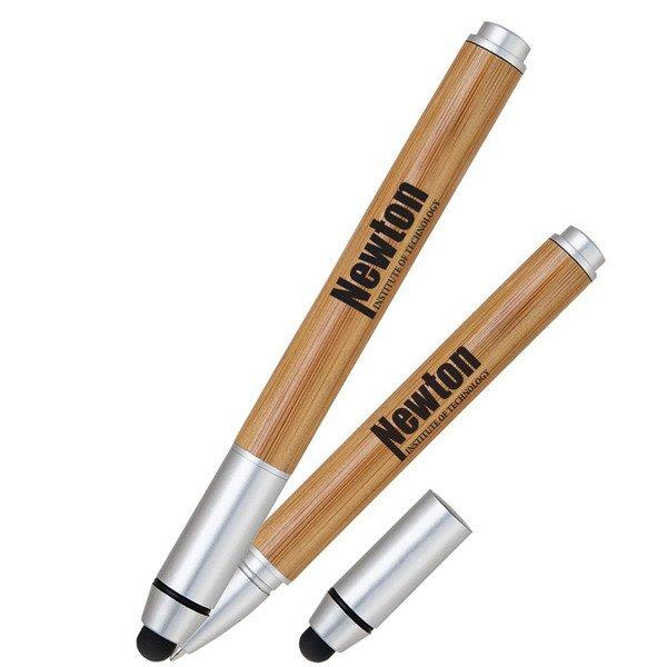 Bamboo Barrel Stylus Cap Pen