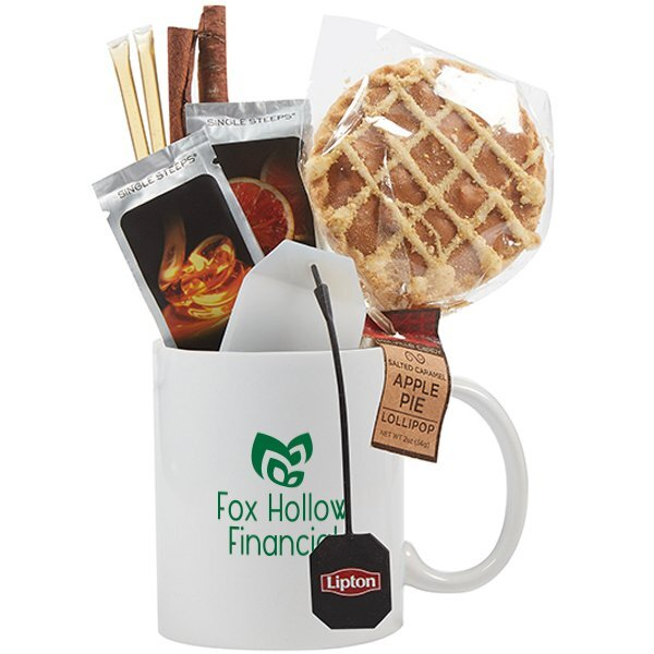 Classic Ceramic Mug & Apple Pie Gift Set - White