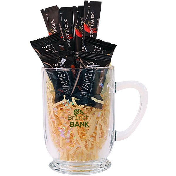 Bolero Glass Mug, Java Melts & Coffee Gift Set