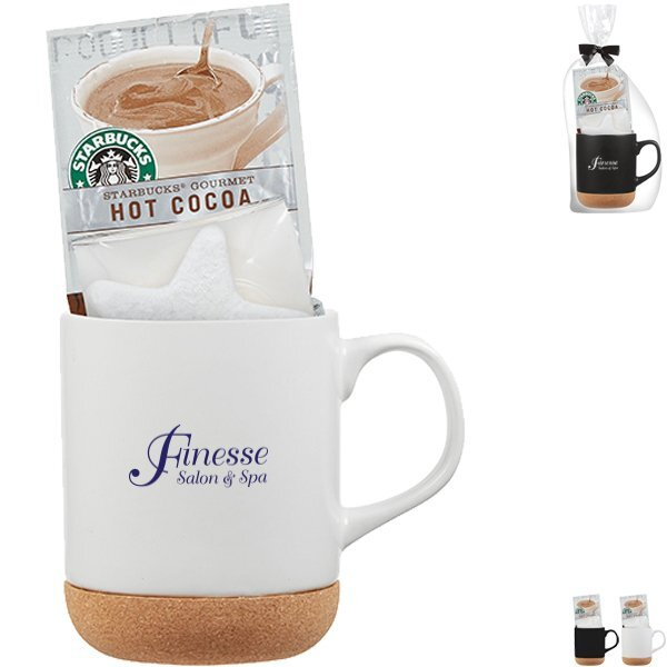 Cork Base Ceramic Mug & Hot Cocoa Gift Set