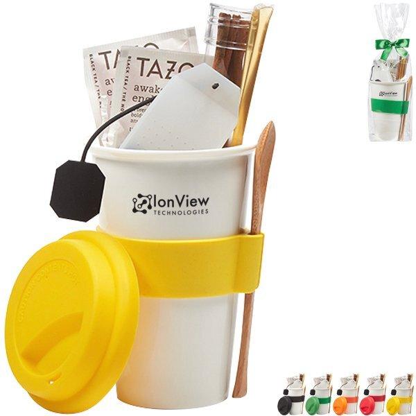 Silicone Accent Tumbler & Tea Gift Set