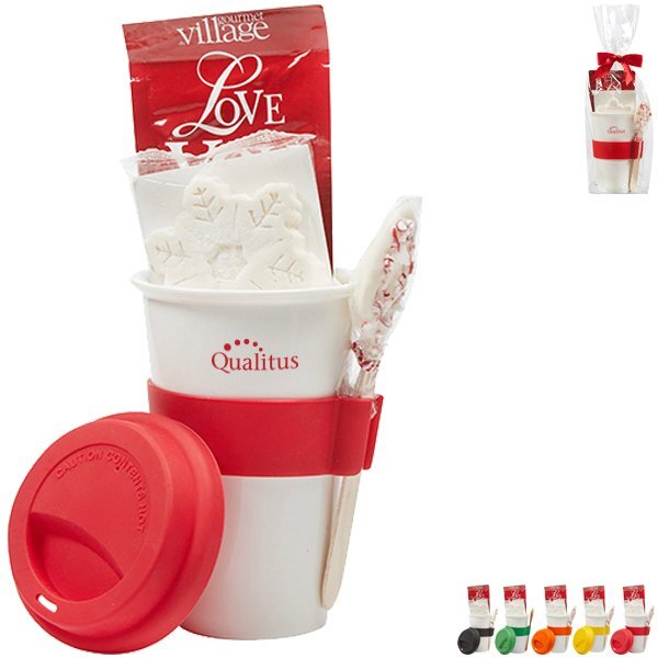 Silicone Accent Tumbler & Hot Chocolate Gift Set