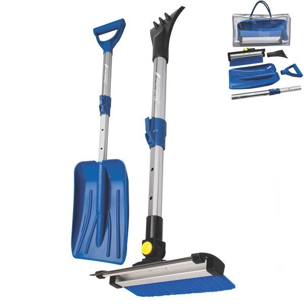 Deluxe Telescoping Snowbrush & Collapsible Shovel Set