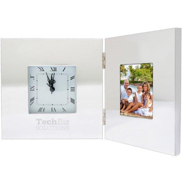Folding Classic Clock w/ Photo Frame