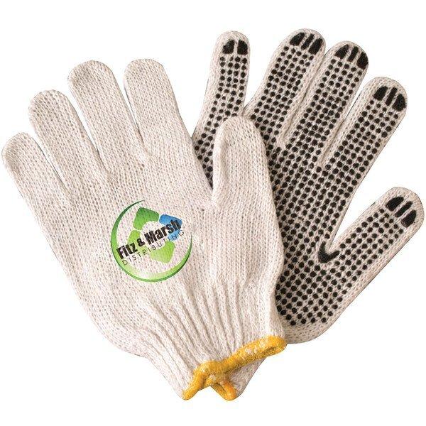 PolyCotton Work Gloves w/ Rubber Grip Dots