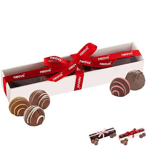 Decadent 5 Piece Belgian Chocolate Truffle Box: Butter Pecan, Hazelnut, Amaretto, Raspberry, Caramel