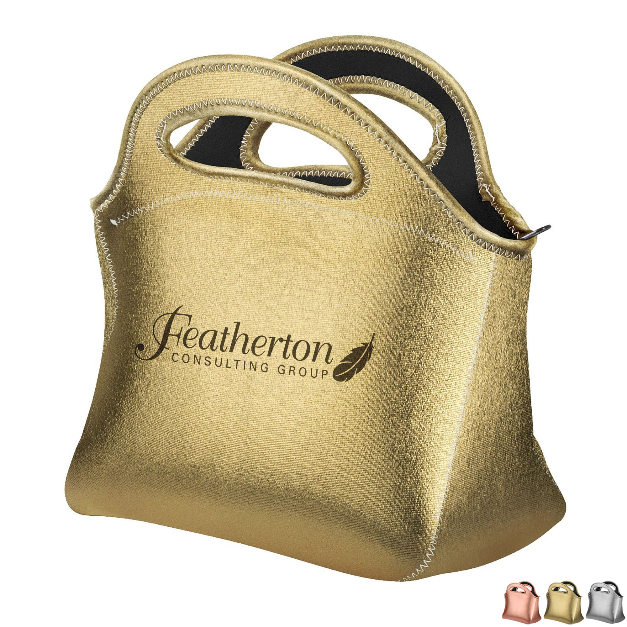 Gran Klutch Metallic Neonprene Lunch Bag