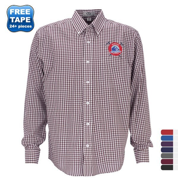 Easy-Care Men's Gingham Check Shirt