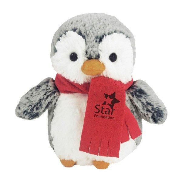 """Mini Pom Pom Penguin Plush, 6"""""""