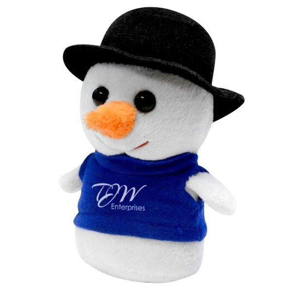"Holiday Shorties Plush Snowman, 4"""
