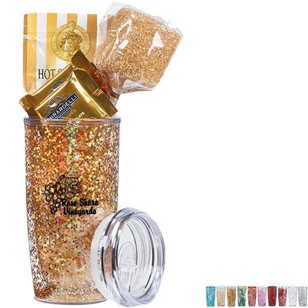 Real Deal Gone Golden Plastic Tumbler & Treat Gift Set