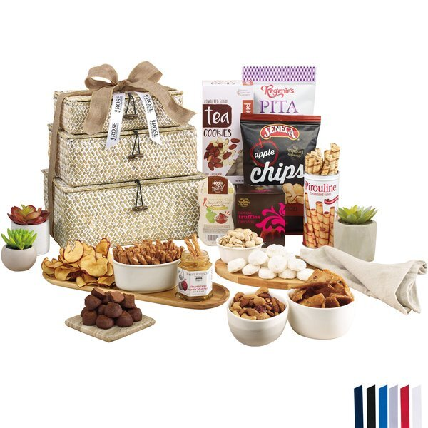 Naturally Delicious Gourmet 3 Tier Seagrass Basket Tower