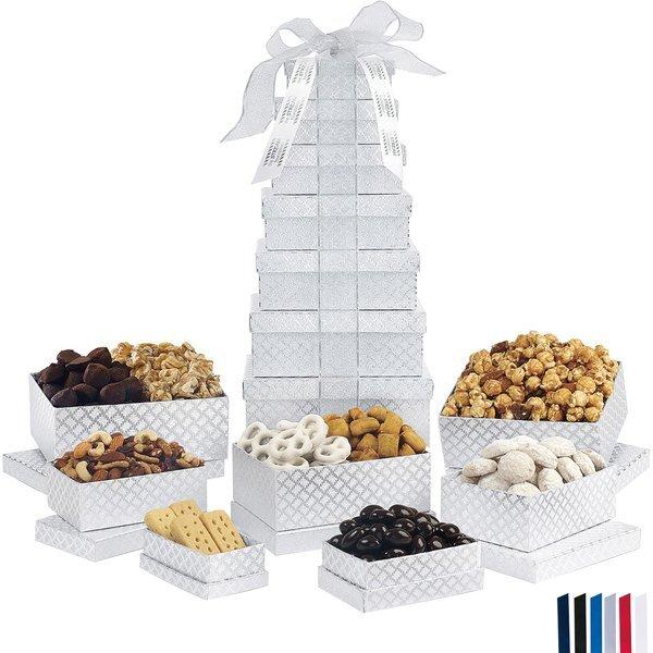 Deluxe Shimmering Sweet & Snacks Gourmet 7 Tier Tower