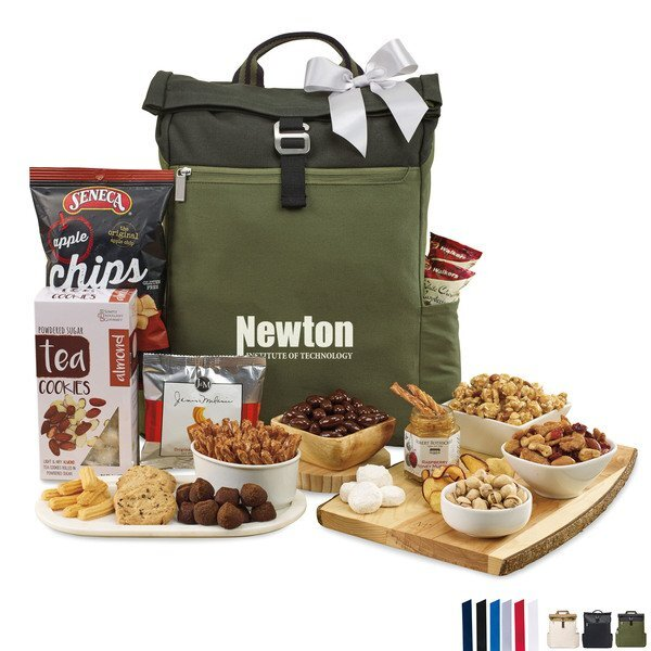 Charlie Cotton Backpack of Sweet & Savory Snacks