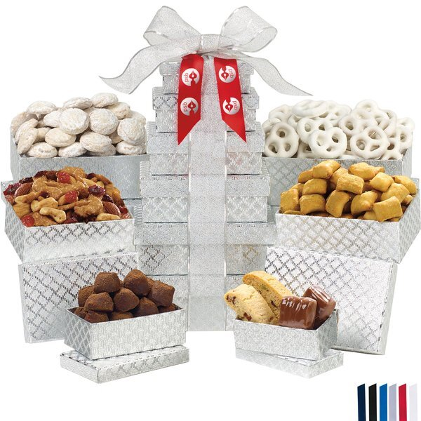 Shimmering Sweets & Snacks Gourmet 6-Tier Tower