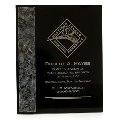 Dymondwood, Marble & Granite Plaque, 8 x 10